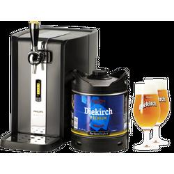 Tapvaten - Pack Philips Perfect Draft 3720/26  met tapvat Diekirch Premium + 2 glazen Diekirch - 25 cl