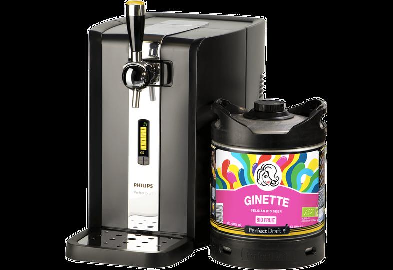 Bierzapfanlagen - Zapfanlage PerfectDraft + Ginette Natural Fruit Bio Fass 6 liter