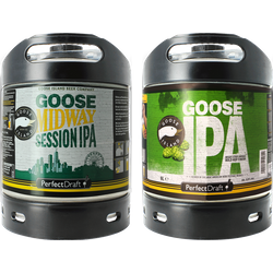 Kegs - Pack 2 fûts Goose Midway Session IPA / Goose Island IPA