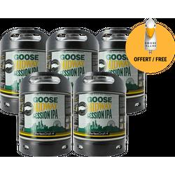 Fûts de bière - Pack 5 fûts Goose Midway + 1 poignée de tireuse offerte