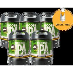 Fûts de bière - Pack 5 fûts Goose Island IPA + 1 poignée de tireuse offerte