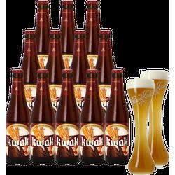 Gåvor - Pack Kwak - 12 bières et 2 verres