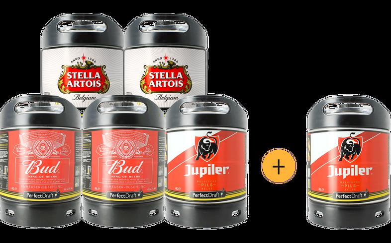 Fûts de bière - Pack 5 fûts Lager + 1 offert