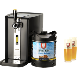Tireuse à bière - Pack Tireuse fût 6L Spaten Oktoberfestbier + 2 verres Spaten - 50 cl