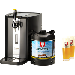 Öltapp - PerfectDraft Spaten Oktoberfestbier Dispenser Pack + 2 glas