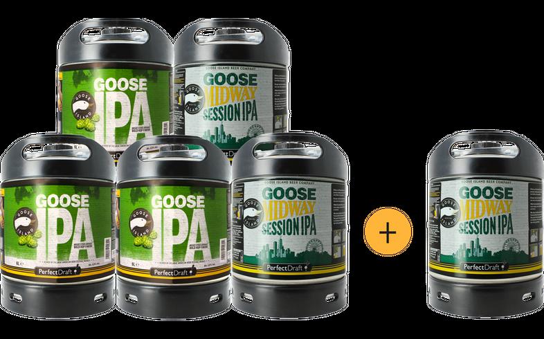 Fässer - Pack 5+1 Gratis Goose Island PerfectDraft Fässer 6 Liter - Mehrweg