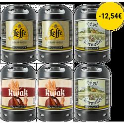Fûts - Pack 6 Fûts : Leffe Blonde - Tripel Karmeliet - Kwak