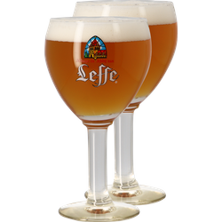 Verres à bière - Pack 2 verres Leffe Calice - 33 cl