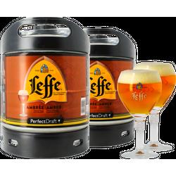 Fusti - Fusto Leffe Ambrée PerfectDraft 6L + 2 bicchieri - 2-Pack