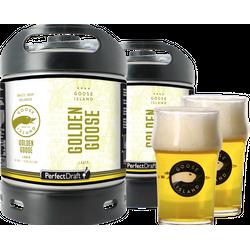 Fûts de bière - Pack 2 fûts 6L Goose Island Golden Goose + 2 verres Goose Island - 25 cl