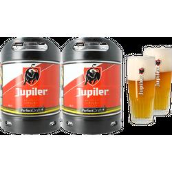 Fûts de bière - Pack 2 fûts 6L Jupiler + 2 verres Jupiler - 50 cl