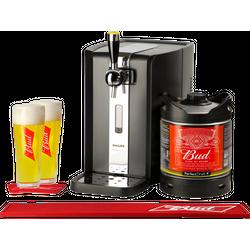 Tireuse à bière - Pack Tireuse Bud + 2 verres + 1 Bar Mat