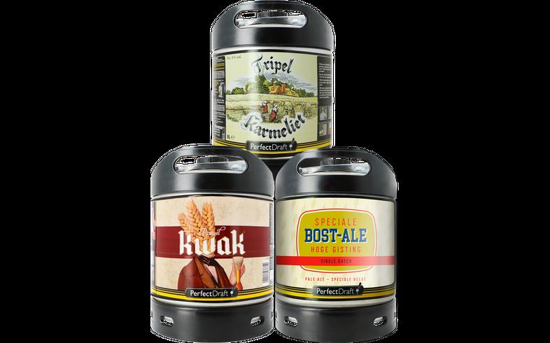 Fûts de bière - Assortiments 3 fûts : Tripel Karmeliet - Kwak - Bost-Ale