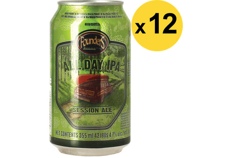 Pack de bières - Big Pack Founders All Day IPA Now in a can - 12 bières