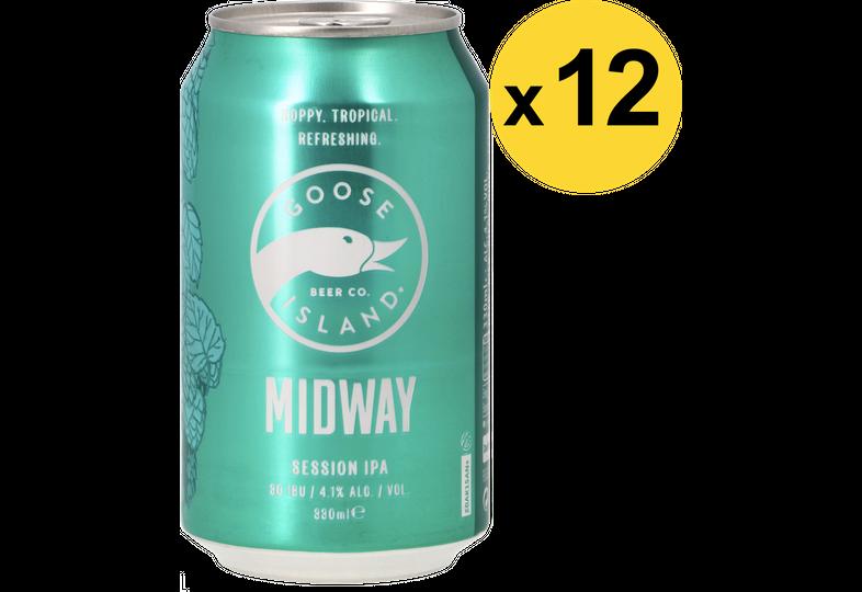 Pack de bières - Pack Goose Island Midway Session IPA - 12 bières