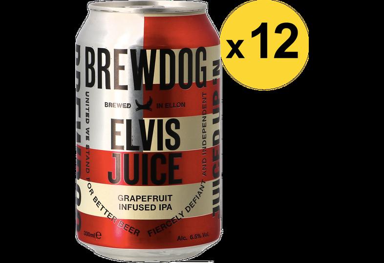 Pack de bières - Pack Brewdog Elvis Juice - 12 bières