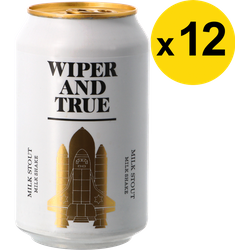 Pack de bières - Pack Wiper And True - Milk Shake Stout - 12 bières