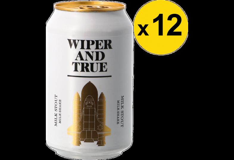 Pack de bières - Pack Wiper And True - Milk Shake Stout - 12 bières