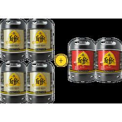 Fûts de bière - Pack 4 fûts Leffe Blonde + 2 fûts Leffe Ruby offerts