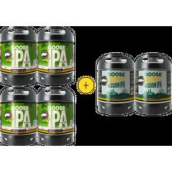 Fûts de bière - Pack 4 fûts Goose Island IPA + 2 fûts Goose Midway Session IPA offerts