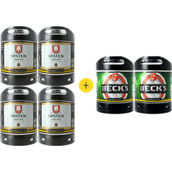 Kegs - Pack 4 fûts Spaten + 2 fûts Beck's offerts