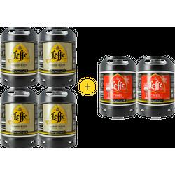Barriles - Pack 4 barriles Leffe Blonde + 2 barriles Leffe de Noël GRATIS