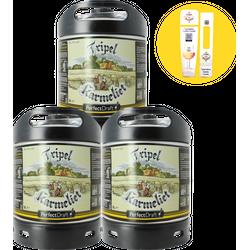 Tapvaten - Pack 3 vaten Tripel Karmeliet + 1 maxi Magnet gratis
