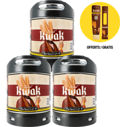 Fatöl - Kwak 6L PerfectDraft Fat 3-Pack Maximagnet