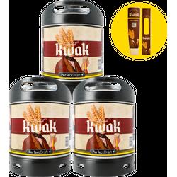 Kegs - Pack 3 fûts Kwak + 1 maxi Magnet offert
