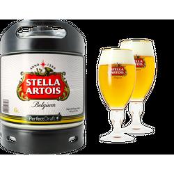 Fûts de bière - Pack 1 fût Stella Artois + 2 verres Stella 50cl