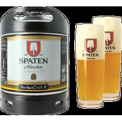 Fûts de bière - Pack 1 fût 6L Spaten + 2 verres Spaten - 50 cl