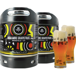 Fûts de bière - Pack 2 fûts 6L Magic Rock High Wire Grapefruit + 2 verres Magic Rock Craft Master - 25cl