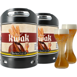 Fatöl - 2 Kwak PerfectDraft 6L Fat + 2 glas 20 cl