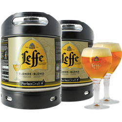 Fatöl - 2 Leffe Blonde 6L PerfectDraft Fat + 2 glas 25 cl