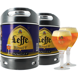 Fusti - Fusto Leffe Rituel 9° PerfectDraft 6L + 2 bicchieri - 2-Pack