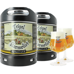 Fatöl - 2 Tripel Karmeliet PerfectDraft 6L Fat + 2 glas 20 cl
