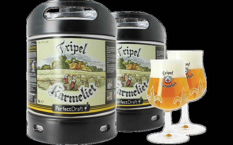 Fatöl - 2 Tripel Karmeliet PerfectDraft 6L Fat + 2 glas 20 cl