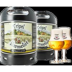 Fûts de bière - Pack 2 fûts 6L Tripel Karmeliet + 2 verres Tripel Karmeliet - 20cl