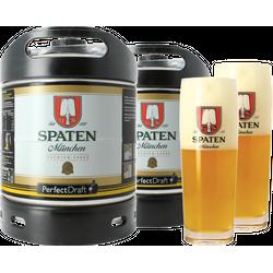 Tapvaten - Pack 2 fûts 6L Spaten + 2 verres Spaten - 50 cl