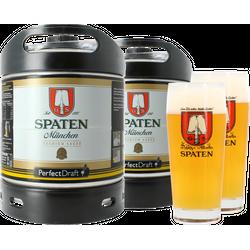 Fûts de bière - Pack 2 fûts 6L Spaten + 2 verres Spaten - 50 cl