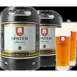 Fûts de bière - Pack 2 fûts 6L Spaten + 2 verres Spaten - 40 cl