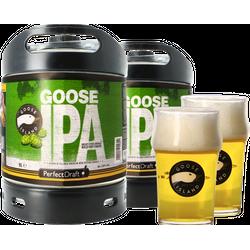 Fässer - Pack 2x Goose Island IPA + 2x 25cl Gläser PerfectDraft 6 Liter Fässer - Mehrweg