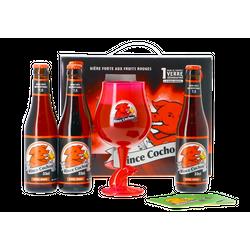 Pack regalo con cerveza y vasos - Pack de regalo Rince Cochon Rouge