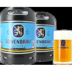 Fässer - PerfectDraft pack 2 Löwenbräu Fässer 6 Liter + 1 Glas 50cl - Mehrweg