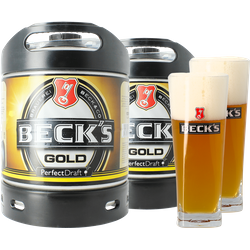 Fusti - Fusto Beck's Gold PerfectDraft 6L + 2 bicchieri - 2-Pack