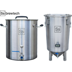 Cuves de brassage - Pack Duo Ss Brewtech Brassage & Fermentation - Brew Kettle 10 Gal. + Brew Bucket BME 7 Gal.