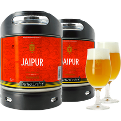 Fûts de bière - Pack 2 fûts 6L Thornbridge Jaipur + 2 verres Thornbridge tulipe - 25cl