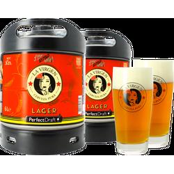 Fusti - Pack 2 fûts 6L La Virgen Lager + 2 verres La Virgen - 33 cl