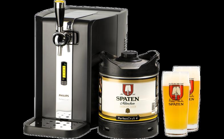 Bierzapfanlagen - Zapfanlage PerfectDraft + Spaten Fass 6 Liter + 2x 50cl Gläser