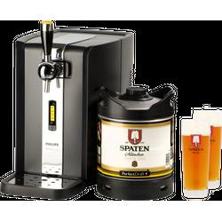 Bierzapfanlagen - PerfectDraft Zapfanlage + 1x Spaten Fass + 2x 40cl Gläser 6 Liter